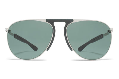 MYKITA Mylon Sunglasses - Rye MH3 - Silver/Storm Grey with Neophan Solid Lenses