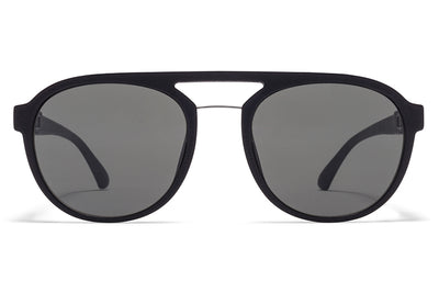 MYKITA Mylon Sunglasses - Sting MMT2 - Pitch Black/Shiny Silver with Mirror Black Lenses