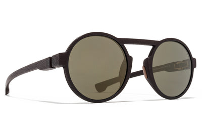 MYKITA Mylon Sunglasses - Thunder MD22 - Ebony Brown with Gun Metal Flash Lenses
