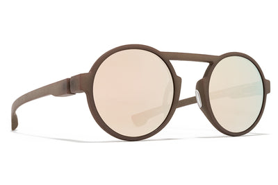 MYKITA Mylon Sunglasses - Thunder MD27 - Taupe Grey with Champagne Gold Lenses