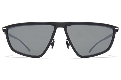 MYKITA MYLON - Tribe Sunglasses MH6 - Pitch Black/Black with Mirror Black Lenses