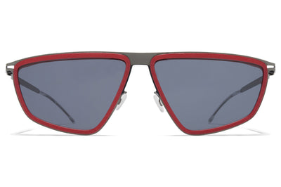 MYKITA MYLON - Tribe Sunglasses MH28 - Crimson Red/Shiny Graphite with Dark Grey Solid Lenses