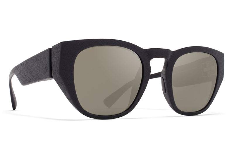 MYKITA Mylon Sunglasses - Trinity MD1 - Pitch Black with Gun Metal Flash Lenses