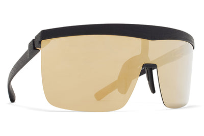 MYKITA Mylon Sunglasses - Trust MD1 - Pitch Black with Gold Shield