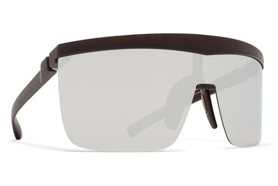 MYKITA Mylon Sunglasses - Trust MD22 - Ebony Brown with Silver Flash Shield