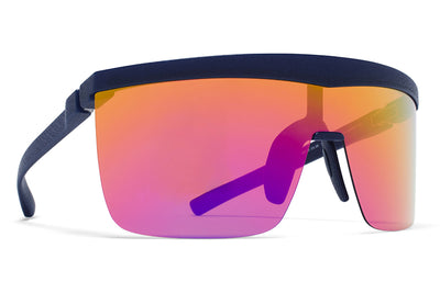 MYKITA Mylon Sunglasses - Trust MD25 - Navy Blue with Rainbow Flash Shield