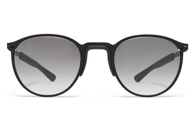 MYKITA Mylon Sunglasses - Tulip MH1 - Black/Pitch Black with Grey Gradient Lenses
