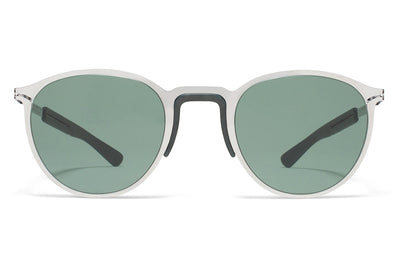 MYKITA Mylon Sunglasses - Tulip MH3 - Silver/Storm Grey with Neophan Solid Lenses