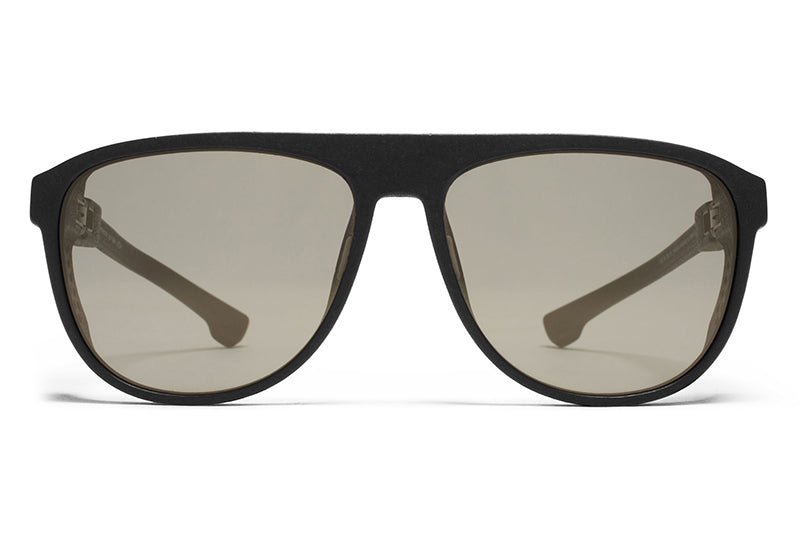 MYKITA Mylon Sunglasses - Turbo MD1 - Pitch Black with Gun Metal Flash Lenses
