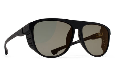 MYKITA Mylon Sunglasses - Turbo MD1 - Pitch Black with Light Gold Flash Lenses