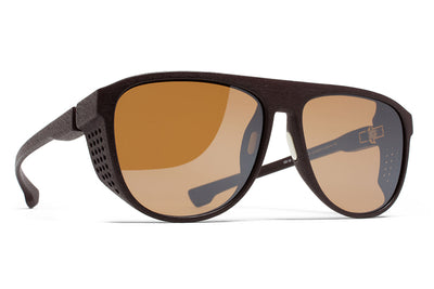 MYKITA Mylon Sunglasses - Turbo MD22 - Ebony Brown with Sienna Brown Flash Lenses