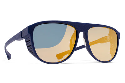 MYKITA Mylon Sunglasses - Turbo MD25 - Navy Blue with Pearly Gold Flash Lenses