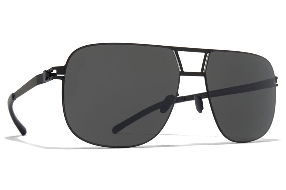 MYKITA - Al Sunglasses Black with Dark Grey Solid Lenses