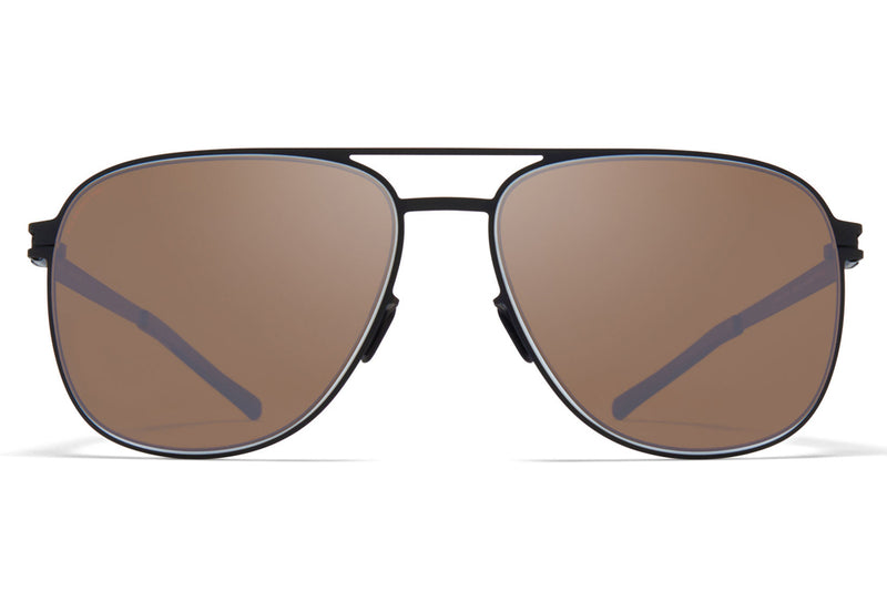 MYKITA - Caleb Sunglasses Black/White with Polarized Pro Hi-Con Brown Lenses