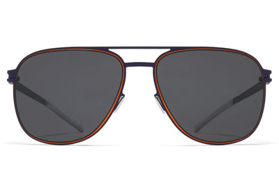 MYKITA - Caleb Sunglasses Indigo/Orange with Polarized Pro Hi-Con Grey Lenses