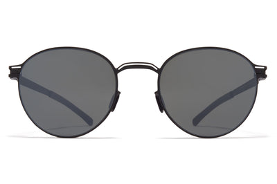 MYKITA - Carlo Sunglasses Black/White with Mirror Black Lenses