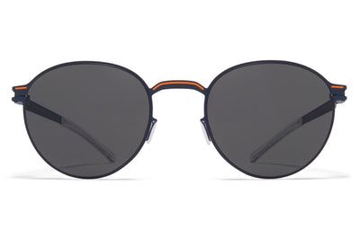 MYKITA - Carlo Sunglasses Indigo/Orange with Dark Grey Solid Lenses