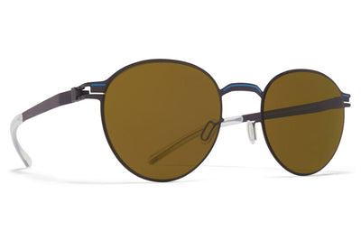 MYKITA - Carlo Sunglasses Storm Grey/Blue Grey with Raw Brown Solid Lenses