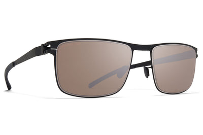 MYKITA - Donovan Sunglasses Black/White with Polarized Pro Hi-Con Grey Lenses