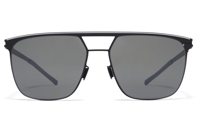 MYKITA - Duran Sunglasses Black/White with Mirror Black Lenses