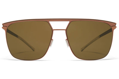 MYKITA - Duran Sunglasses Shiny Copper/Camou Green with Raw Brown Solid Lenses