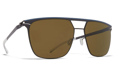 MYKITA - Duran Sunglasses Storm Grey/Blue Grey with Raw Brown Solid Lenses