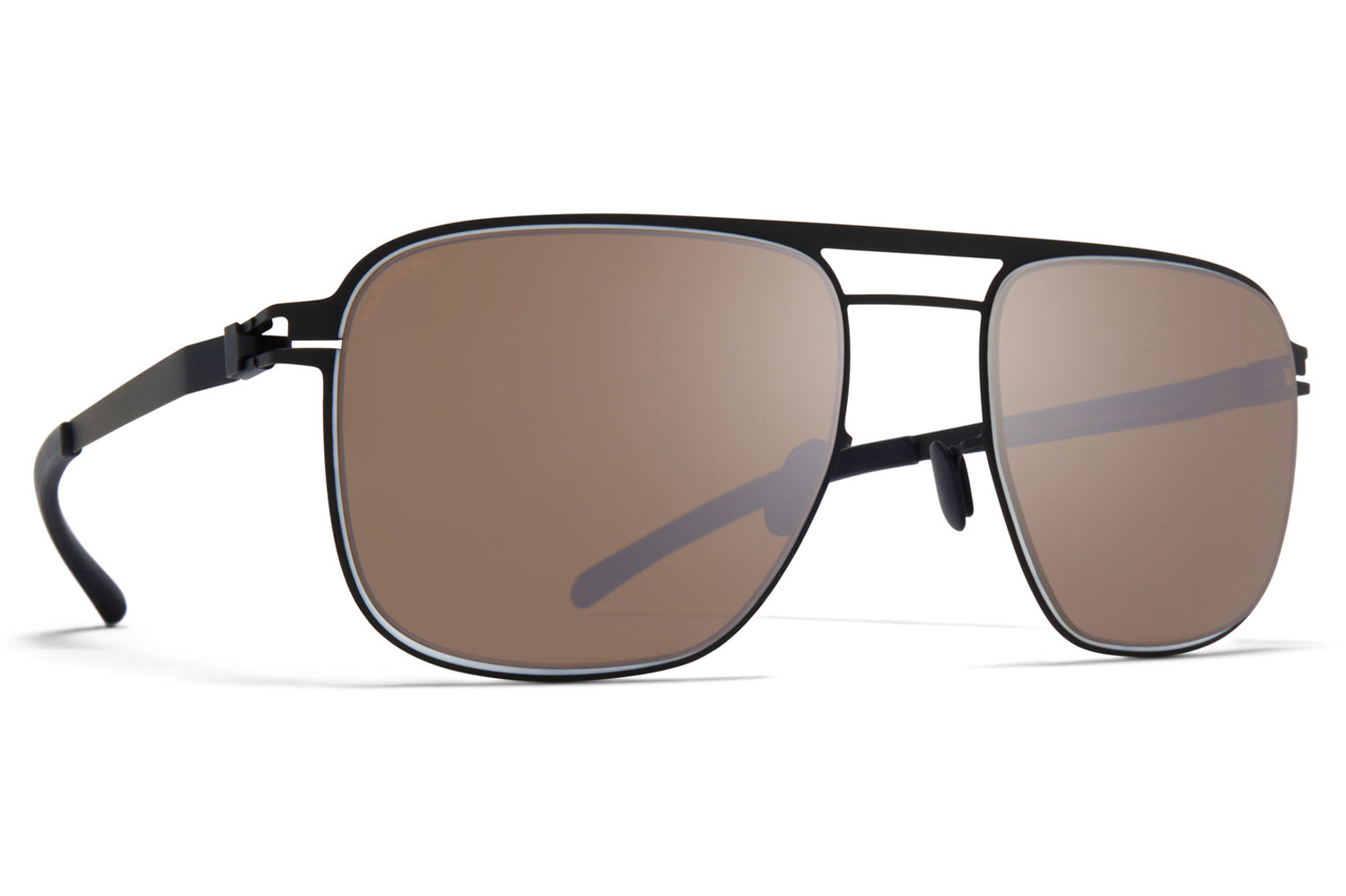 MYKITA - Eli Sunglasses Black/White with Polarized Pro Hi-Con Brown Lenses