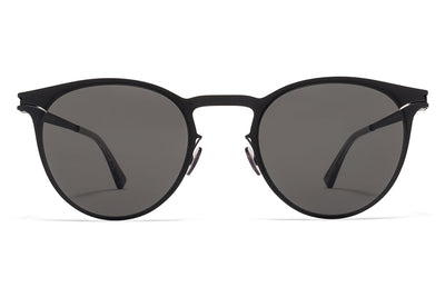 MYKITA Sunglasses - Federico Matte Black with Dark Grey Solid Lenses