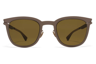 MYKITA Sunglasses - Gregory Mole Grey with Raw Brown Solid Lenses