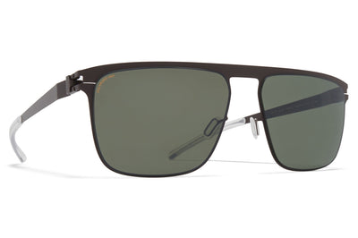 MYKITA - Hampton Sunglasses Dark Brown with Polarized Pro Green 15 Lenses