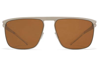 MYKITA - Hampton Sunglasses Matte Silver with Polarized Pro Amber Brown Lenses