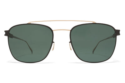 MYKITA Sunglasses - Hugh Champagne Gold/Ebony Brown with MY+ Fern Polarized Lenses