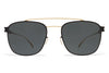 MYKITA Sunglasses - Hugh Gold/Black with MY+ Black Polarized Lenses