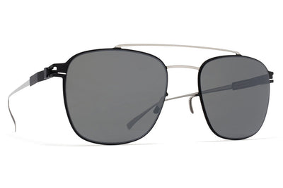 MYKITA Sunglasses - Hugh Silver/Black with Mirror Black Lenses