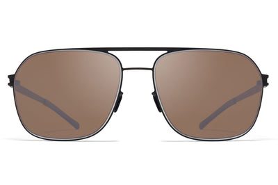 MYKITA - Ian Sunglasses Black/White with Polarized Pro Hi-Con Brown Lenses