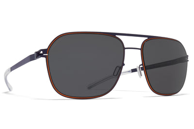 MYKITA - Ian Sunglasses Indigo/Orange with Polarized Pro Hi-Con Grey Lenses