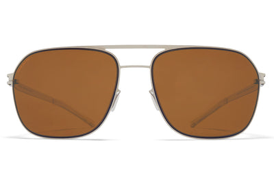 MYKITA - Ian Sunglasses Silver/Blue Velvet with Polarized Pro Amber Brown Lenses