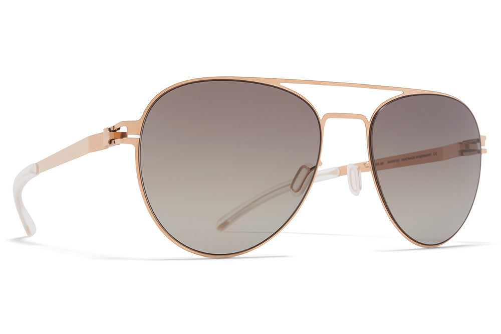 MYKITA - Jones Sunglasses Champagne Gold with MY+ Green Grad Black Photochromic Polarized Lenses
