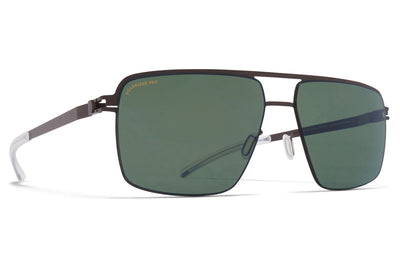 MYKITA - Joshua Sunglasses Dark Brown with Polarized Pro Green 15 Lenses
