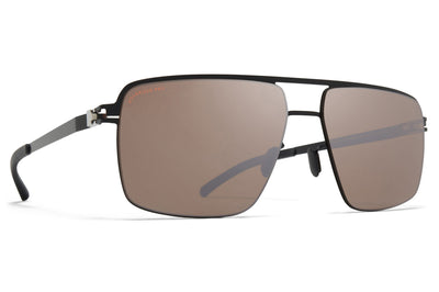 MYKITA - Joshua Sunglasses Jet Black with Polarized Pro HiCon Brown Silver/Flash Lenses