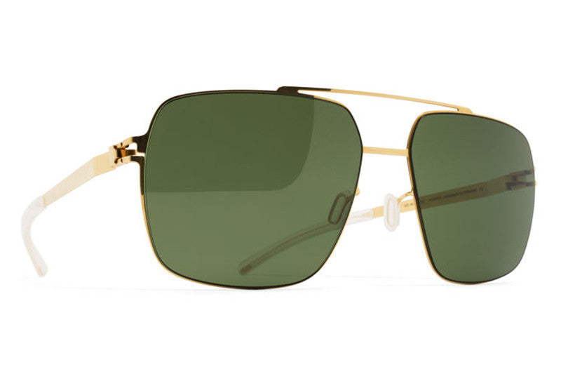 9eb958de253f ... Graphite with Green Grad Black Photochromic Polarized Lenses. MYKITA  Sunglasses - Landon Glossy Gold with MY+ Fern Polarized Lenses