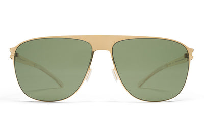 MYKITA Sunglasses - Liston Glossy Gold with MY+ Fern Polarized Lenses