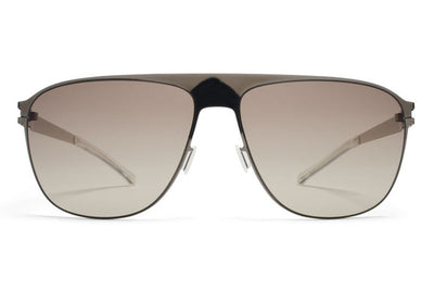 MYKITA Sunglasses - Liston Shiny Graphite with Green Grad Black Photochromic Polarized Lenses