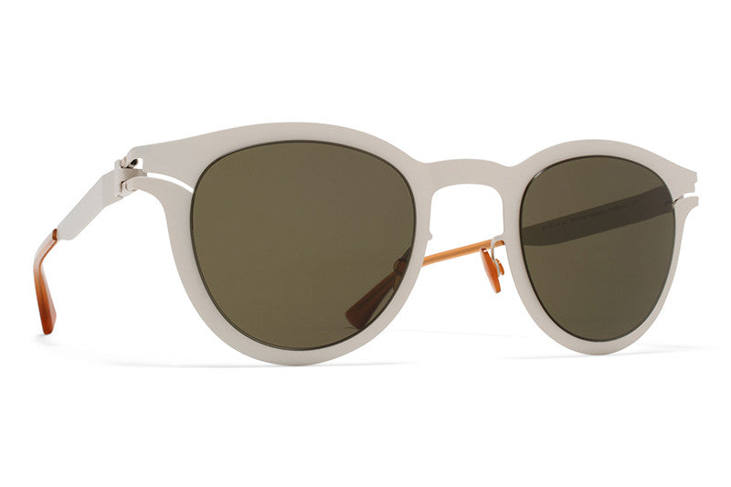 MYKITA Sunglasses - Macy Cinereous Grey with Raw Green Solid Lenses