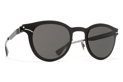 MYKITA Sunglasses - Macy Matte Black with Dark Grey Solid Lenses