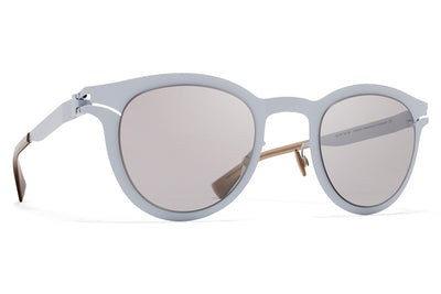 MYKITA Sunglasses - Macy Powder Blue with Warm Grey Flash Lenses