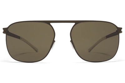 MYKITA - Mikko Sunglasses Camou Green with Raw Green Solid Lenses