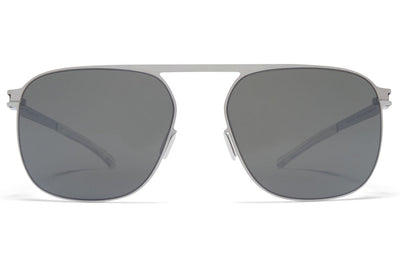 MYKITA - Mikko Sunglasses Shiny Silver with Mirror Black Lenses