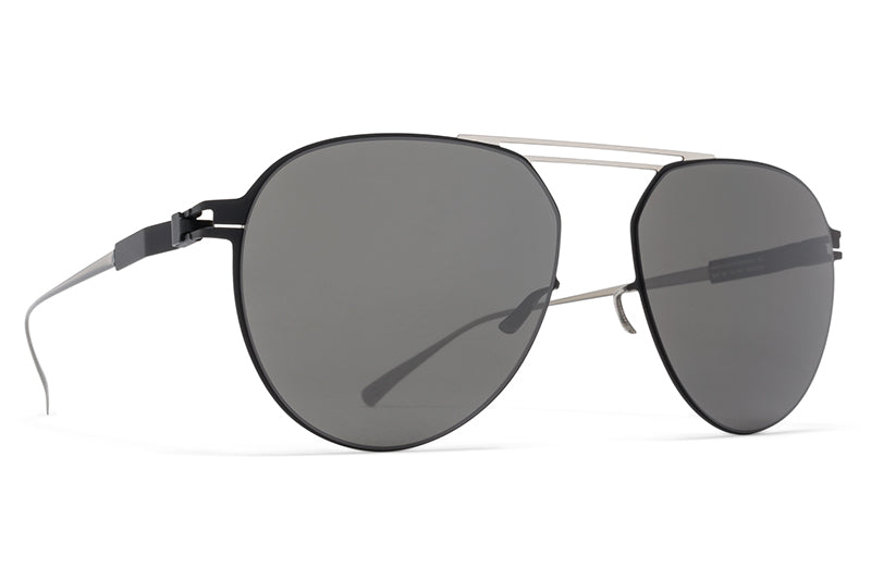 MYKITA Sunglasses - Nino Silver/Black with Mirror Black Lenses