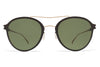 MYKITA Sunglasses - Odell Champagne Gold/Ebony Brown with MY+ Fern Polarized Lenses